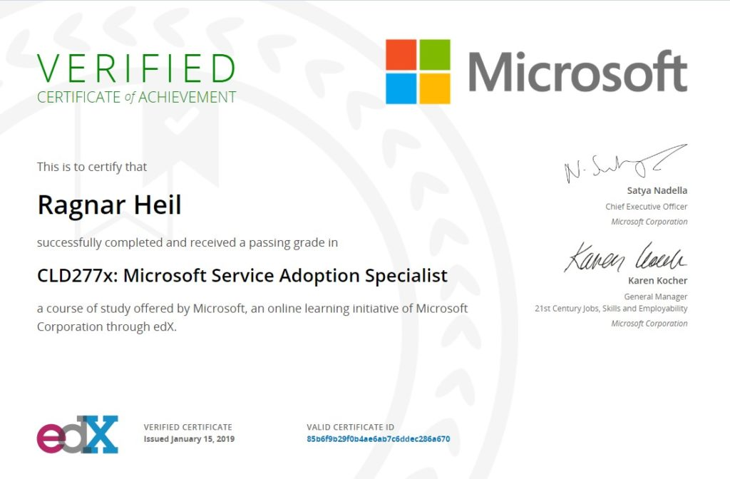 microsoft service adoption specialist