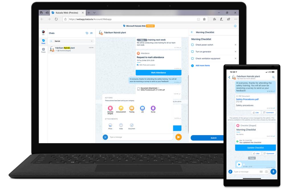 final webapp vs right phonescreen with checklist screenshot