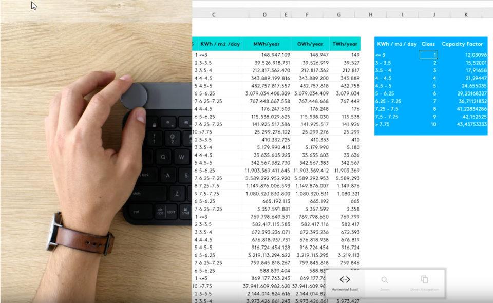 Logitech Craft Keyboard Excel