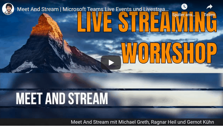 Meet and Stream Workshop Microsoft Teams Yammer Live Streaming