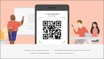 Live Presentations in PowerPoint QR Code