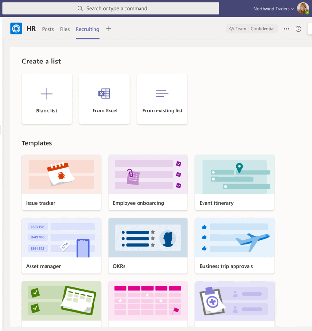 Microsoft Lists and Microsoft Teams