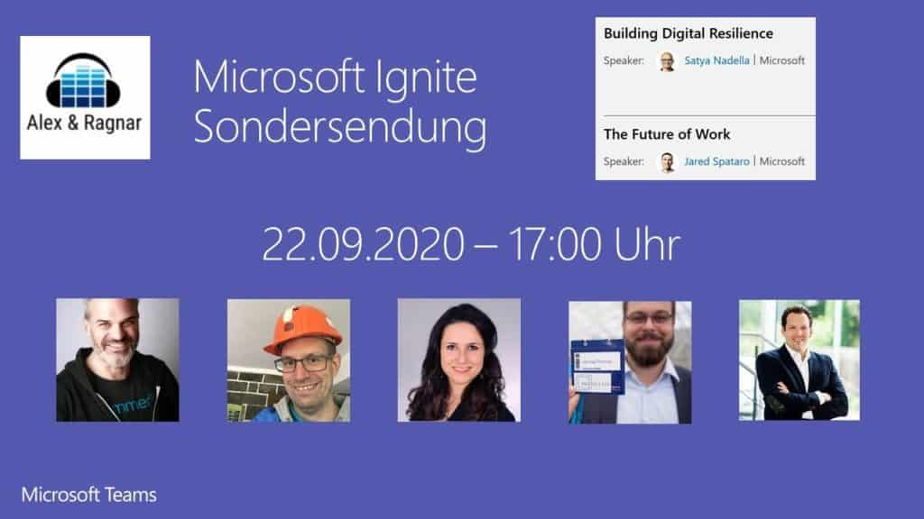 Microsoft Ignite Video Live Stream Alex & Ragnar