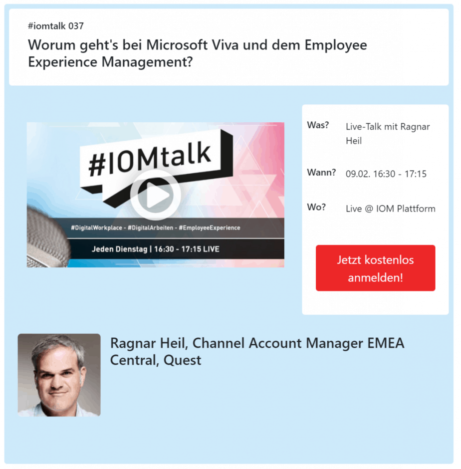 IOMTalk Microsoft Viva short