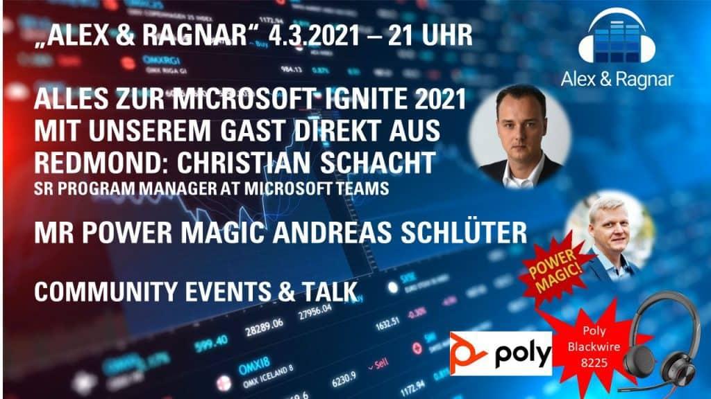 Alex Ragnar Show 28 Microsoft Ignite mit Christian Schacht