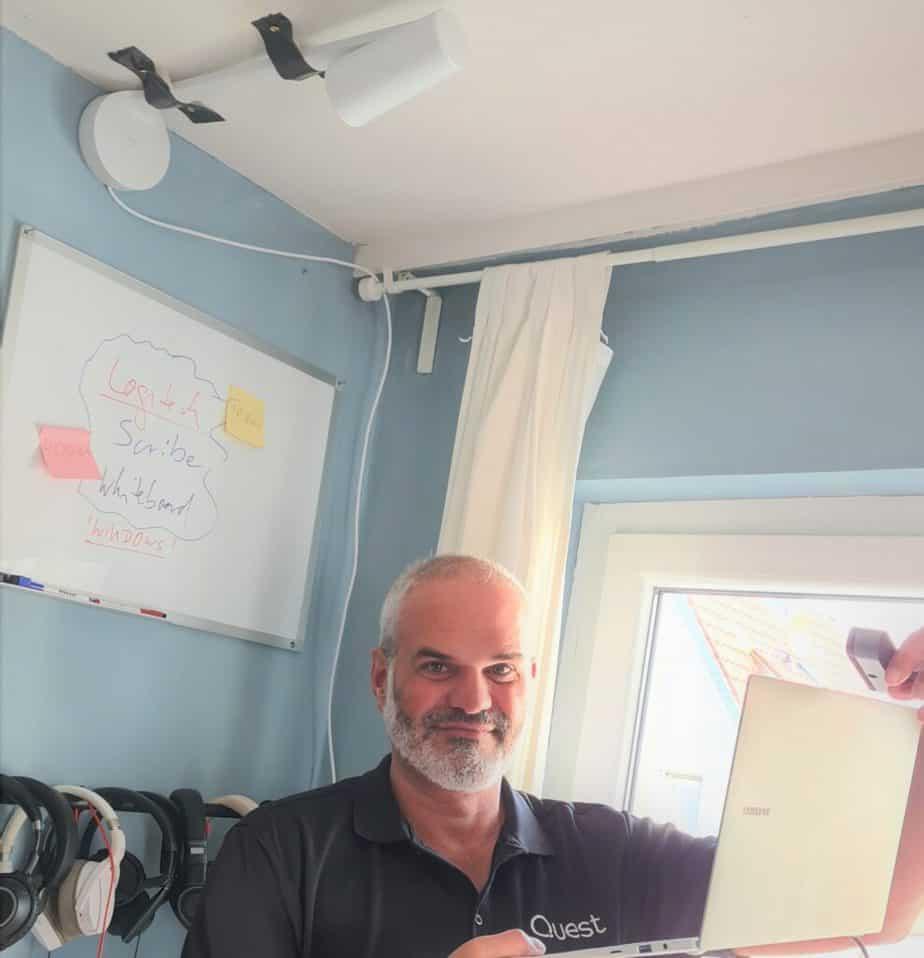 Ragnar Whiteboard with Samsung Galaxy Laptop 2